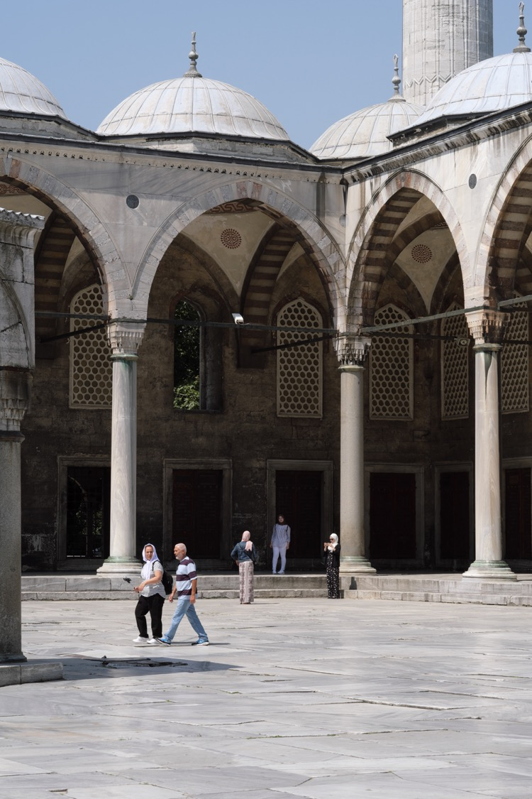 Arcade. Sultan Ahmed Mosque Istanbul