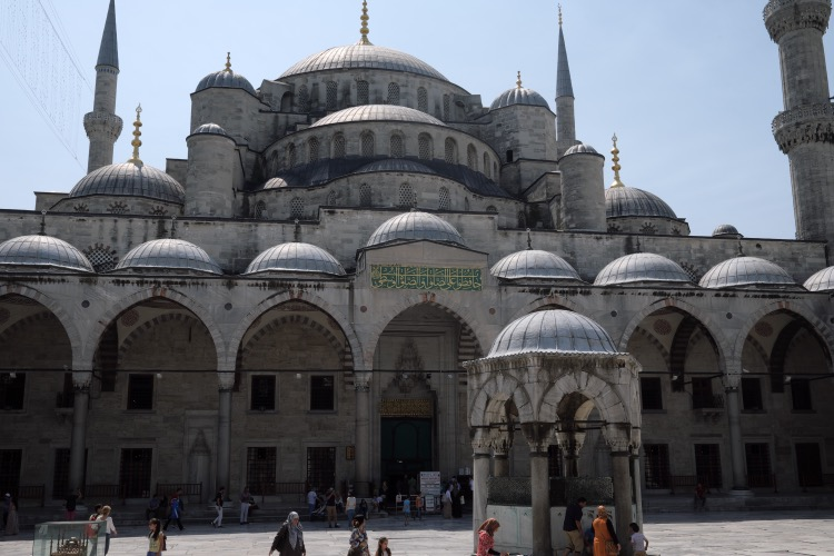 Courtyard. Sultan Ahmed Mosque Istanbul