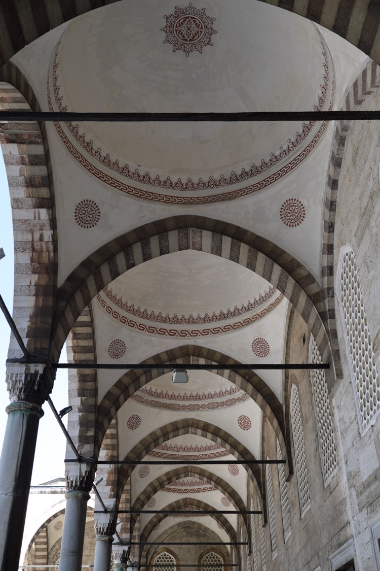 Arcade Vaults. Sultan Ahmed Mosque Istanbul